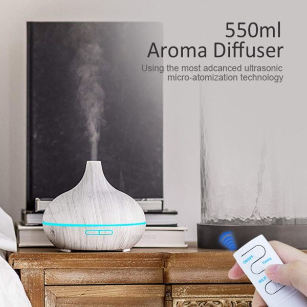 550ml Aroma Air Humidifier Essential Oil Diffuser  Aromatherapy Electric Ultrasonic cool Mist Maker for Home Remote Control 5