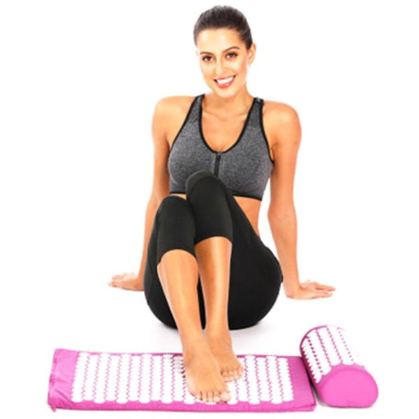 Acupressure Mat & Pillow Set/Acupuncture Mat Spike Yoga Mat for Massage Wellness Relaxation and Tension Release yoga mat case 3