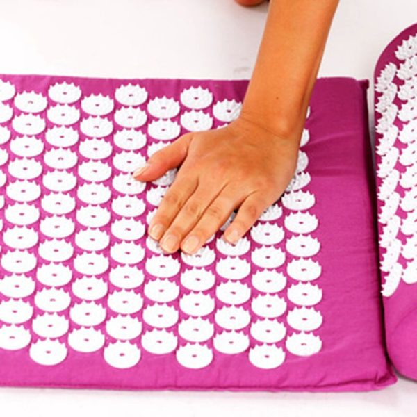 Acupressure Mat & Pillow Set/Acupuncture Mat Spike Yoga Mat for Massage Wellness Relaxation and Tension Release yoga mat case 4