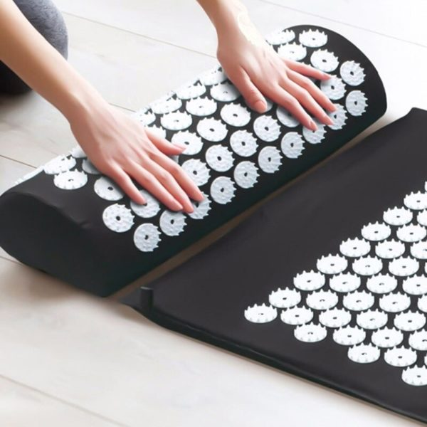 Acupressure Mat & Pillow Set/Acupuncture Mat Spike Yoga Mat for Massage Wellness Relaxation and Tension Release yoga mat case 2